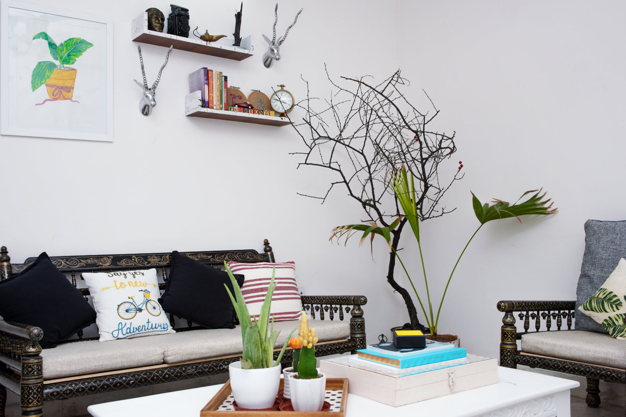 Bohemian Living Room Makeover First Edition