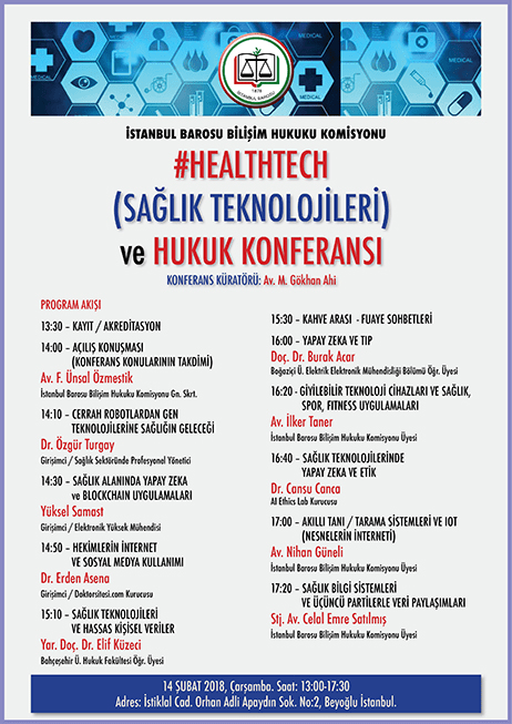 Istanbul Bar Association, Health Technologies Conference – 14.2.2018