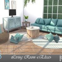 """Набор мебели и декора для гостиной """"Elisa""""."""