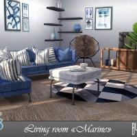"""Набор мебели для гостиной The Sims 4 """"Marine"""""""