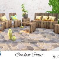 Мебель и декор для сада The Sims 4 Citrus