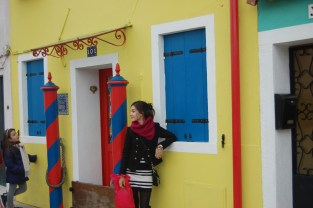 yellow house in burano