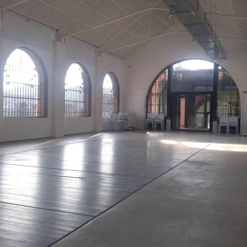 Interior de la Casa de les Aigües Dispòsit de decantació i cloració