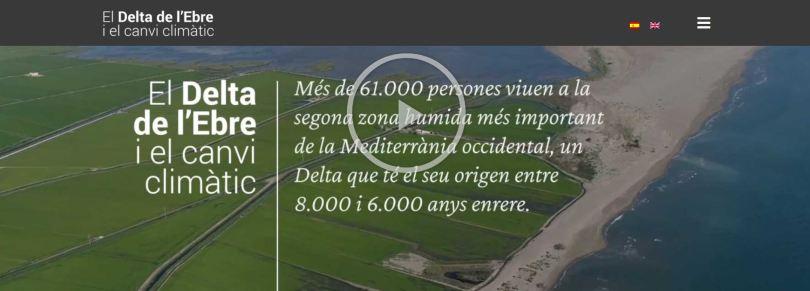 Imatge de presentació de l'exposició El delta de l'Ebre i el canvi climàtic