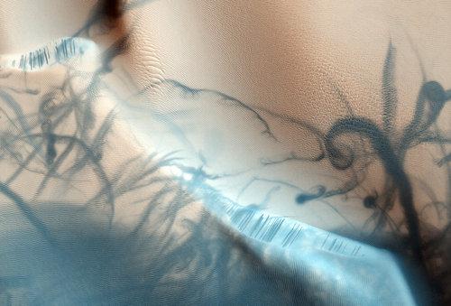 Arena modelada por el viento marciano
