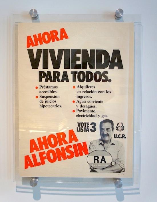 Alfonsín - Vivienda para todos  - Museo del bicentenario