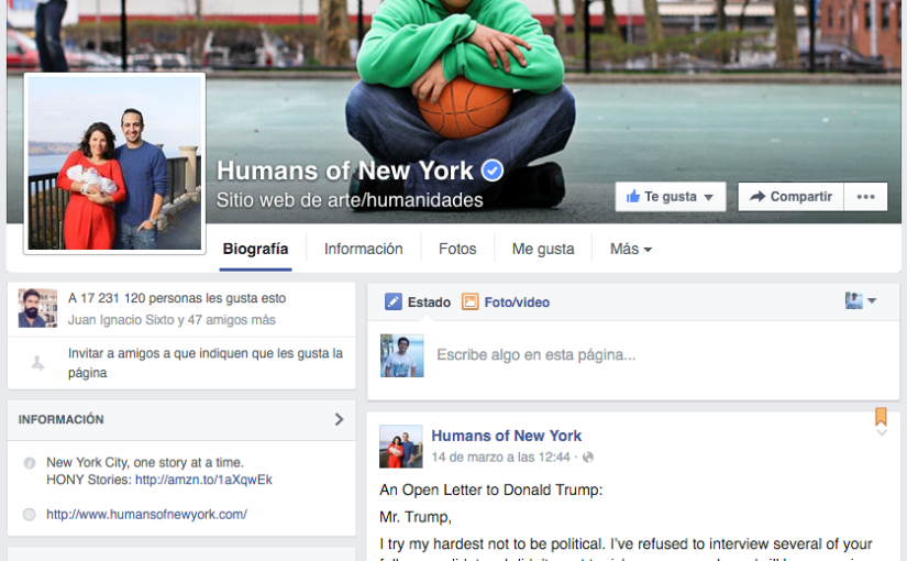 Una carta contra Trump, el post más compartido en Facebook