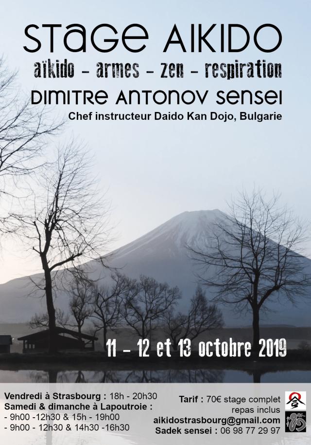 Stage d'Aïkido avec Dimitre Antonov