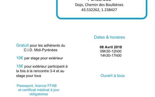 08 Avril 2018 - Stage pour tous à Fonsorbes