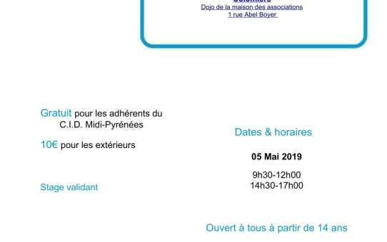 05 mai 2019 -Stage pour Tous
