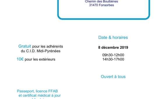 8 Décembre 2019 - Stage pour tous à Fonsorbes avec Jean-François Fabre 5ème dan