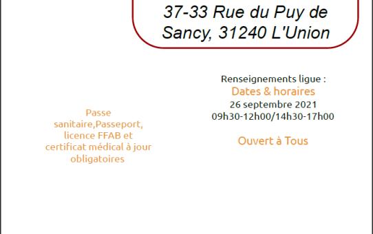 stage de rentrée 26/09/2021