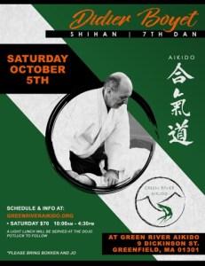 [:fr]Stage Samedi 5 octobre '19 – Greenfield, MA, USA[:en]Seminar October Saturday 5th '19 - Greenfield, MA, USA[:] @ Green River Aikido