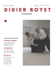 [:fr]Stage - 27 février au 1er mars 2020 - Aikido Daiwa, Burbank, Californie.[:en]Seminar - February 27th to March 1st 2020 - Aikido Daiwa, Burbank, Californie.[:] @ Aikido Daiwa