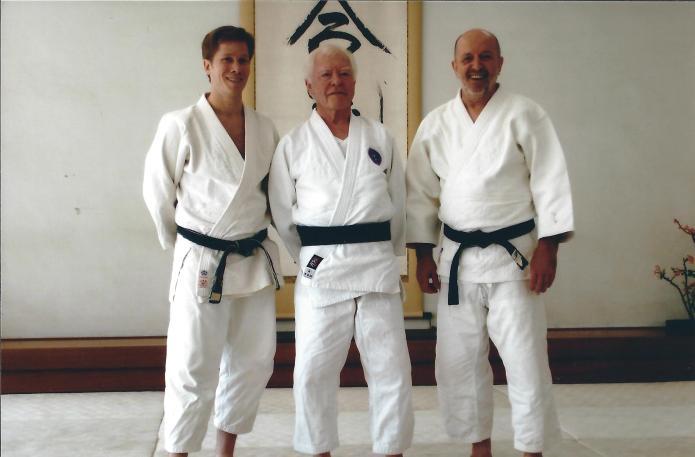 De gauche à droite : John Brinsley, Jack Arnold, Didier Boyet – Hombu Dojo, novembre 2006
