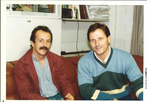 Début des années 1980, de gauche à droite: Didier Boyet, Christian Tissier