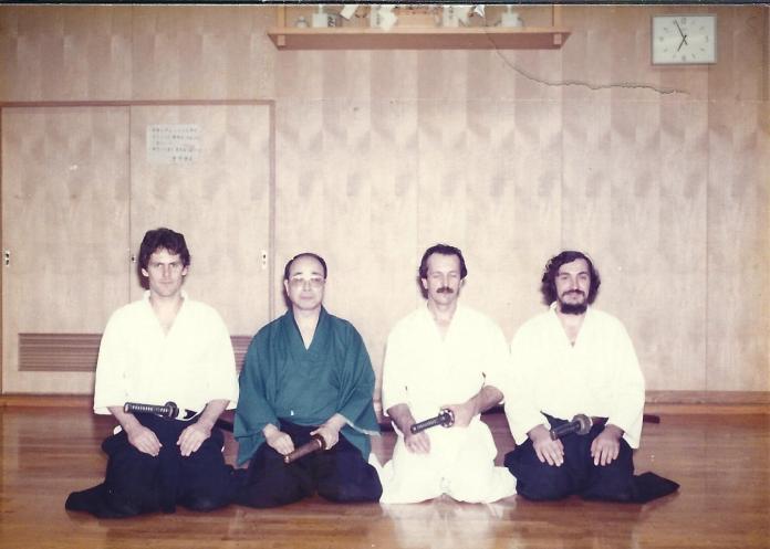 De gauche à droite : Chris Mulligan, inconnu, Didier Boyet, Michel Prouvèze