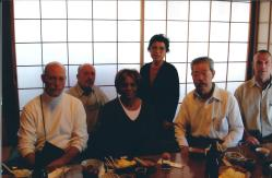 Novembre 2006, visite des shihans du Birankai North America à Mitsuzuka Takeshi Sensei – De gauche à droite: Darrell Bluhm, Didier Boyet, Loraine DiAnne, Mme Mitsuzuka, Mitsuzuka Takeshi, Michael Flynn