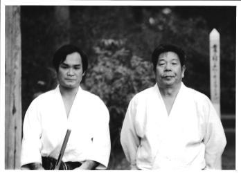 Chiba Sensei et Saito Sensei – Iwama, fin des années 1970