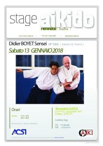 Stage - 13 janvier '18 - Lucca, italie @ Renwakai LUCCA