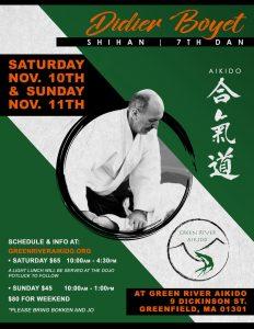[:fr]Stage - 10 ~ 11 novembre '18 – Greenfield, MA, USA[:en]Seminar - November 10 to 11th '18 - Greenfield, MA, USA[:] @ Green River Aikido