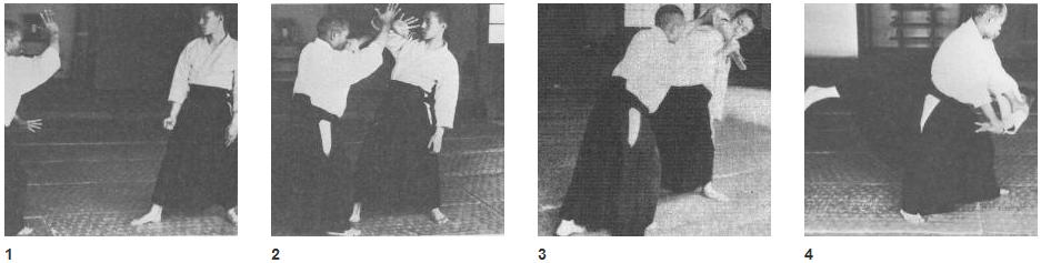 """El Fundador mostrando Shomen Uchi Ikkyo Omote en """"Budo""""."""