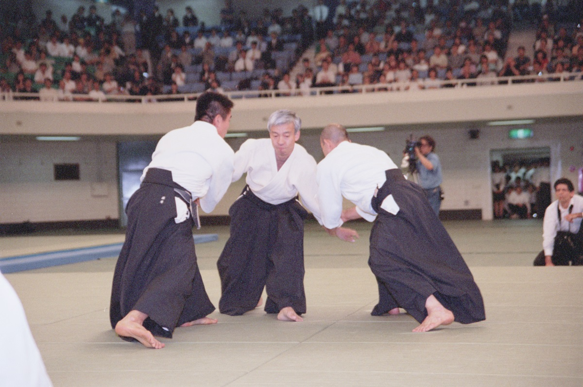 Doshu at All-Japan Demonstration in 2000