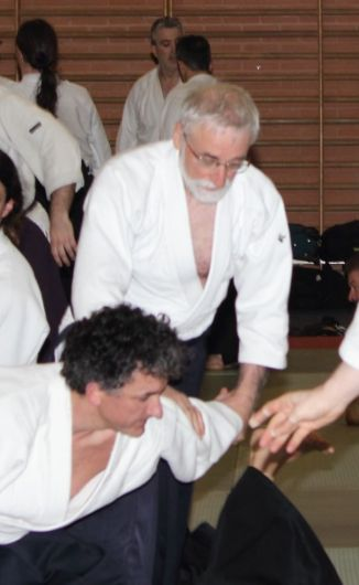 Gilbert Milliat (7ºDan) practicando con Fidel Pérez Sebastián (5ºDan)