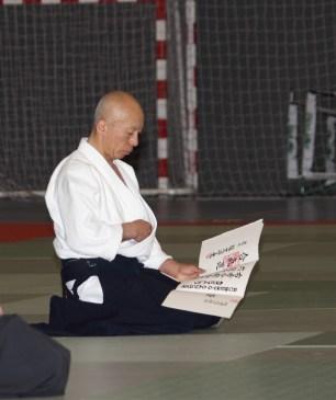 Hayato Osawa Shihan - Madrid - 2014 - Diploma 6ºDan Aikikai Hombu Dojo a Roberto Sánchez Arévalo