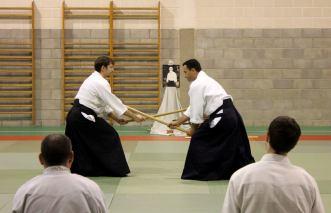 Curso Nacional de Aikido en Alicante, Tomás Sánchez y Roberto Sánchez, noviembre 2015 (Roberto Sánchez, KumiTachi)