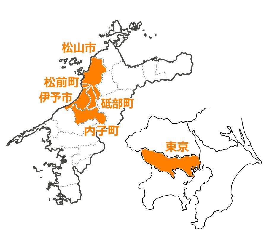 愛光不動産松山店の営業エリア