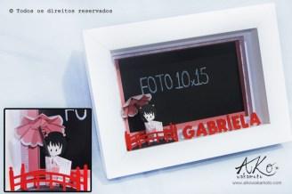 Porta-retrato Japonesinha com guarda-chuva