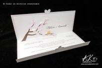 Convite de casamento sakura