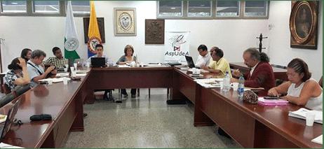 Mesa de negociación Aspudea y la Universidad de Antioquia.