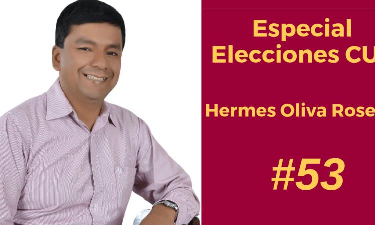 Hermes Oliva Rosero, candidato de la CUT