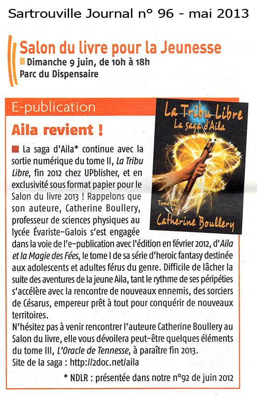 Journal de Sartrouville et Catherine Boullery, auteure de fantasy