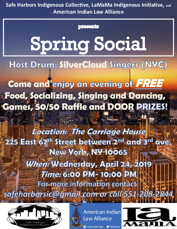 2019 Spring Social with the Silver Cloud Singers (NYC) as Host Drum