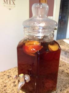 Nectarine Infused Sun Tea