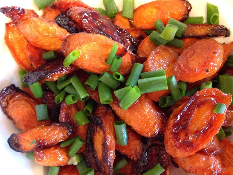 Honey Roasted Carrots on Aileen Cooks