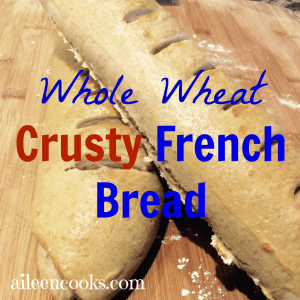 Whole Wheat Crusty French Bread Recipe