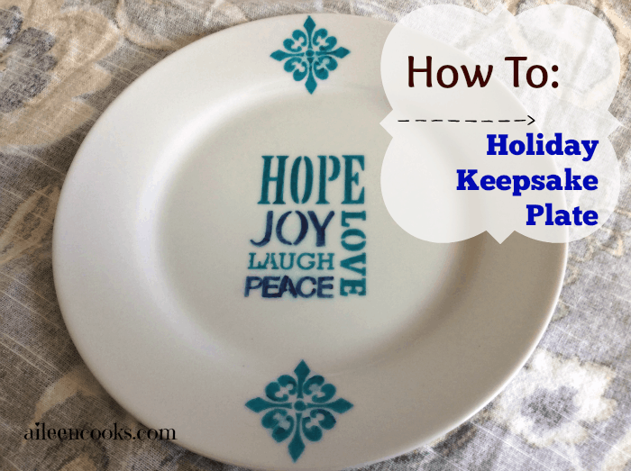 Holiday Keepsake plate by aileen cooks
