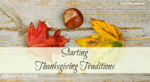 Starting Thanksgiving Traditions