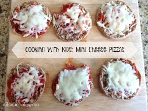 Cooking With Kids: Mini Cheese Pizzas
