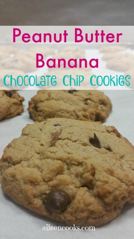 PeanutButter Banana Chocolate Chip Cookie