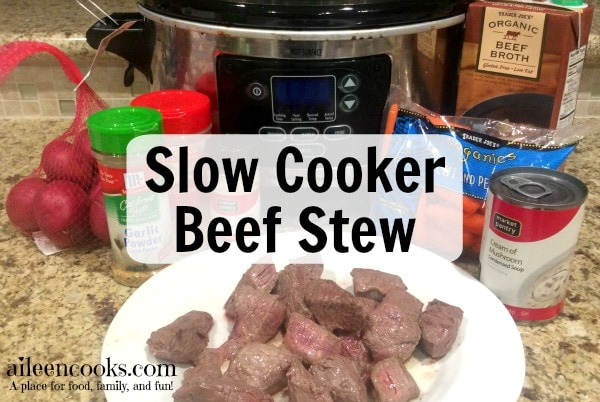 Slow Cooker Beef Stew recipe from https://aileencooks.com