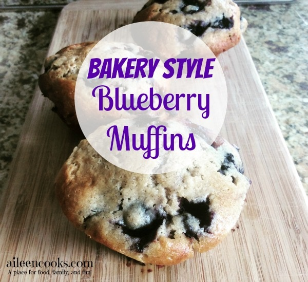 Bakery Style Blueberry Muffin Recipe with muffin top