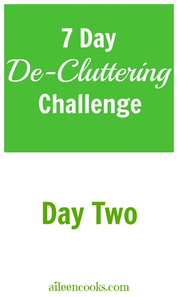 7 Day De-Cluttering Challenge Day Two Social