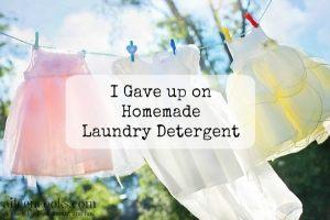 I gave up on homemade laundry detergent https://aileencooks.com