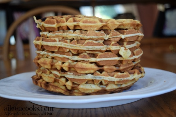 Join the freezer cooking challenge and easily make 18 freezer meals in 6 weeks. This week I show you how to make freezer friendly fish cakes and waffles. https://aileencooks.com