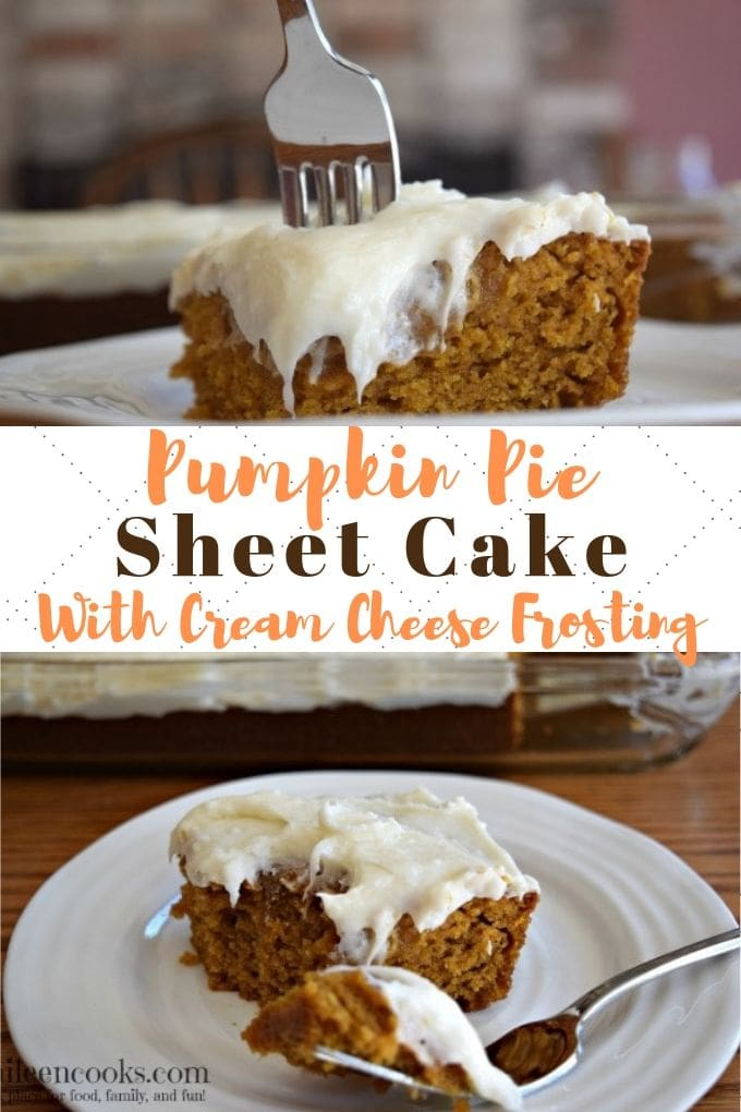 If you try any new pumpkin spice recipe this season, make it this pumpkin sheet cake with cream cheese frosting. It's sweet, moist, and flavorful. Plus, it makes your whole house smell like pumpkin. So good!